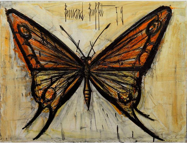 tableau papillon de bernard buffet